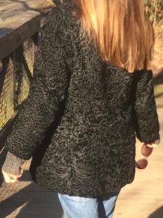 Black Astrakhan coat